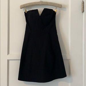 Sweet v cut mini black dress